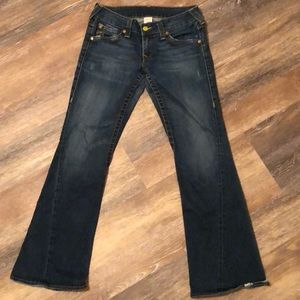 True Religion Joey Twisted Seam Flare Jeans